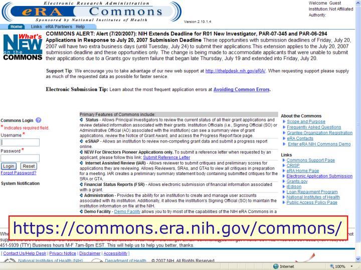 https://commons.era.nih.gov/commons/