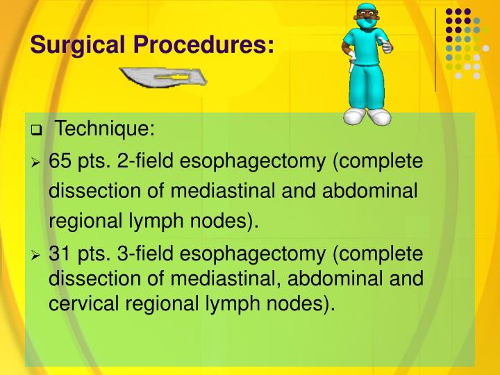 Surgical Procedures: