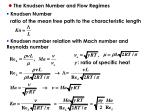 the knudsen number and flow regimes