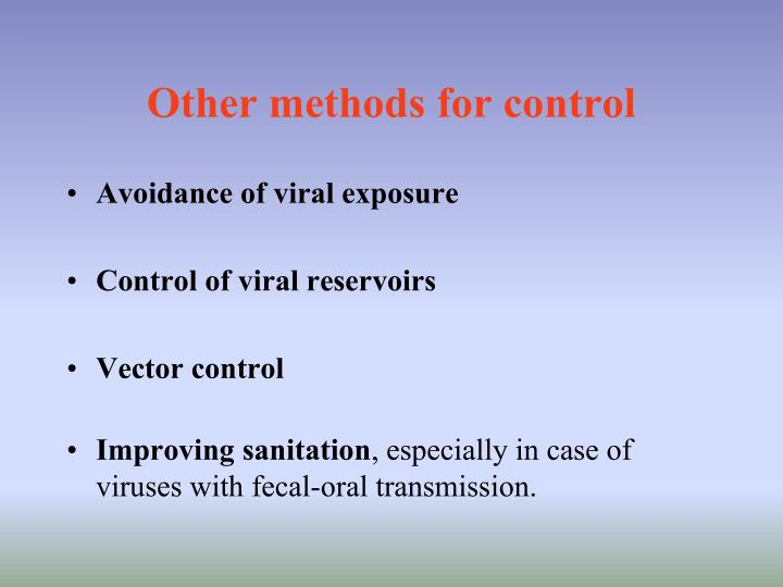 Other methods for control