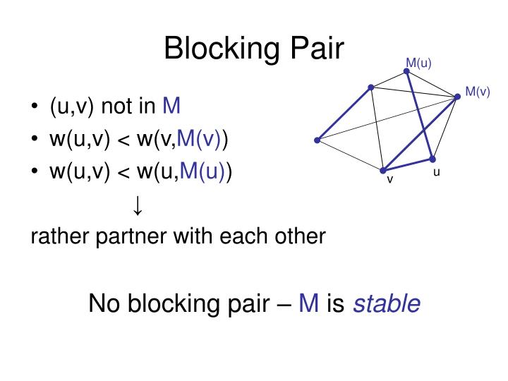 Blocking Pair