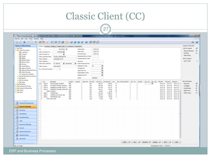 Classic Client (CC)