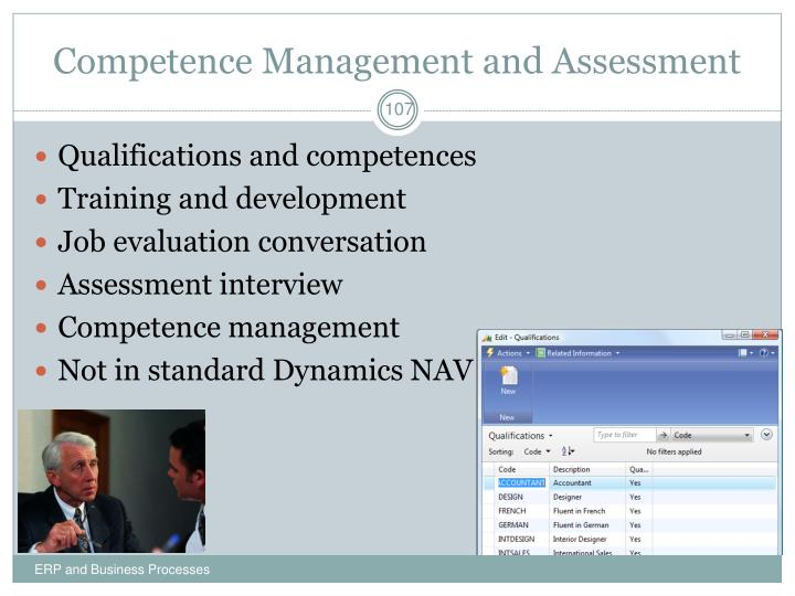 Competence Management and Assessment