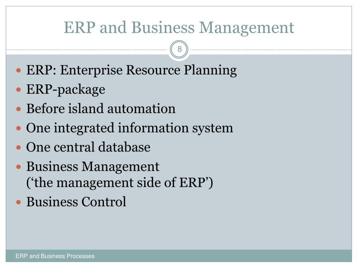 ERP and Business Management