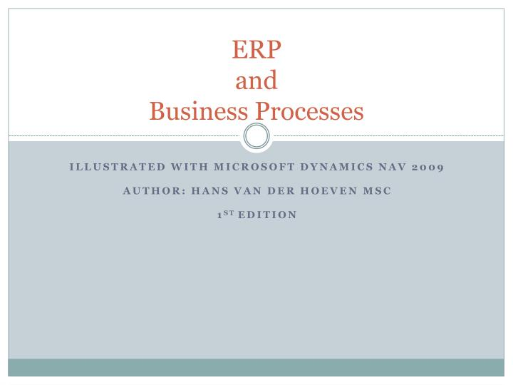 Erp and business processes