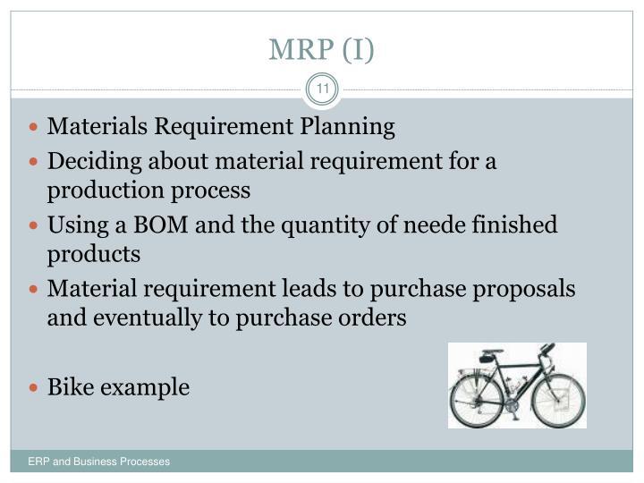 MRP (I)