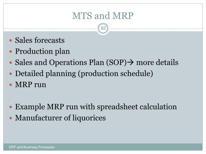 MTS and MRP