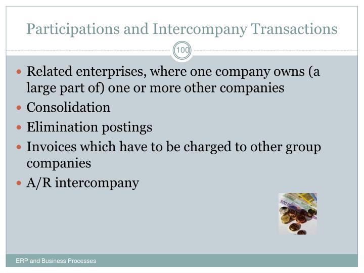 Participations and Intercompany Transactions