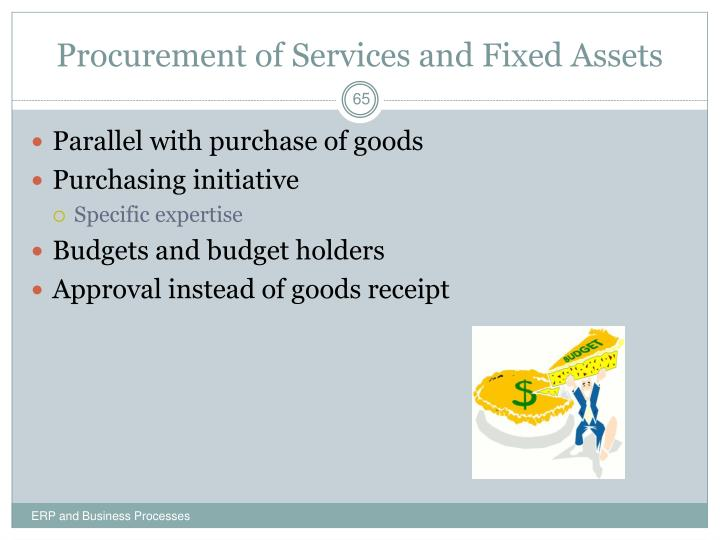Procurement of Services and Fixed Assets