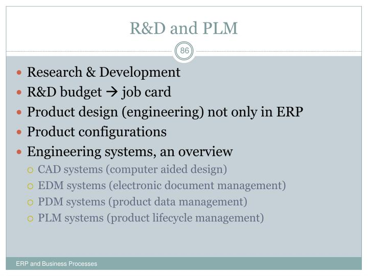 R&D and PLM
