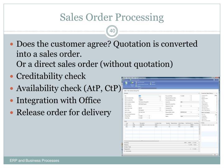 Sales Order Processing
