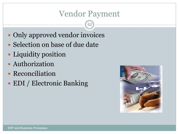 Vendor Payment