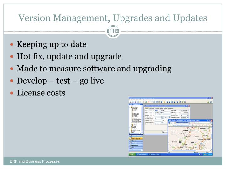 Version Management, Upgrades and Updates