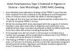 avian paramyxovirus type 1 outbreak in pigeons in victoria sam mccullough csiro aahl geelong