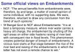 some official views on embankments