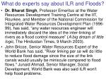 what do experts say about ilr and floods
