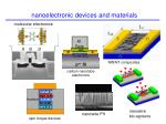 nanoelectronic devices and materials