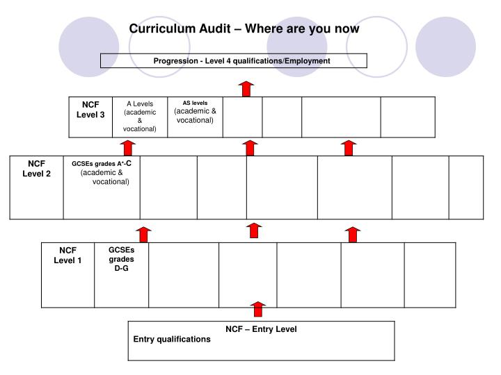 Curriculum Audit – Where are you now