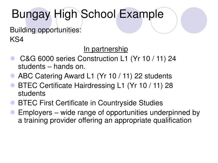 Bungay High School Example