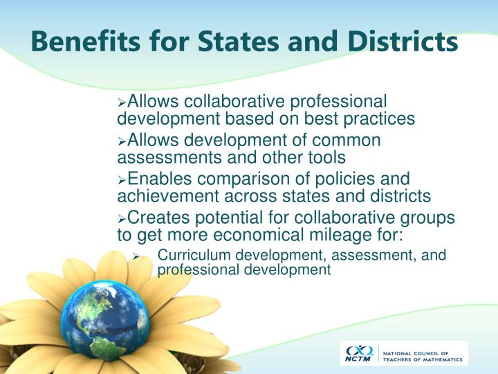 Benefits for States and Districts