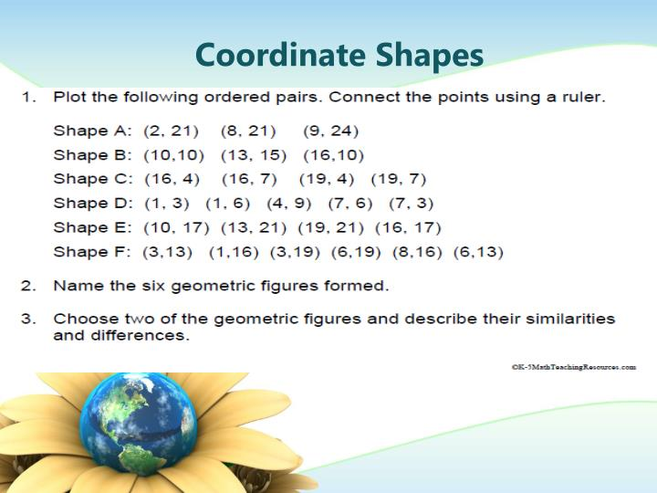 Coordinate Shapes