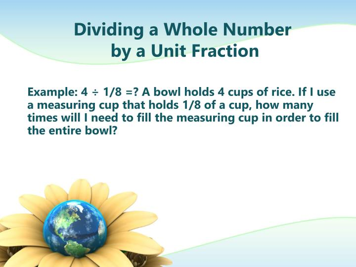 Dividing a Whole Number