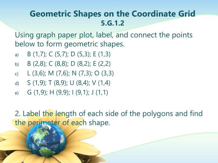 Geometric Shapes on the Coordinate Grid