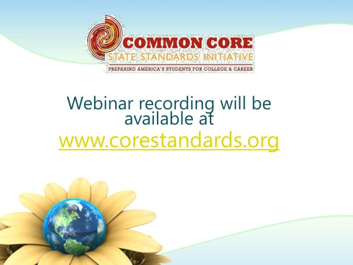 Webinar recording will be available at