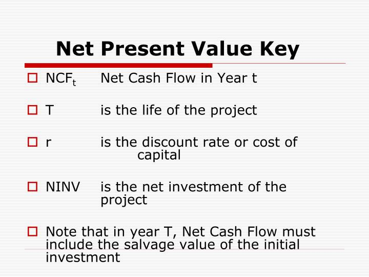 Net Present Value Key