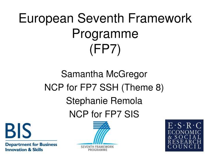 European seventh framework programme fp7
