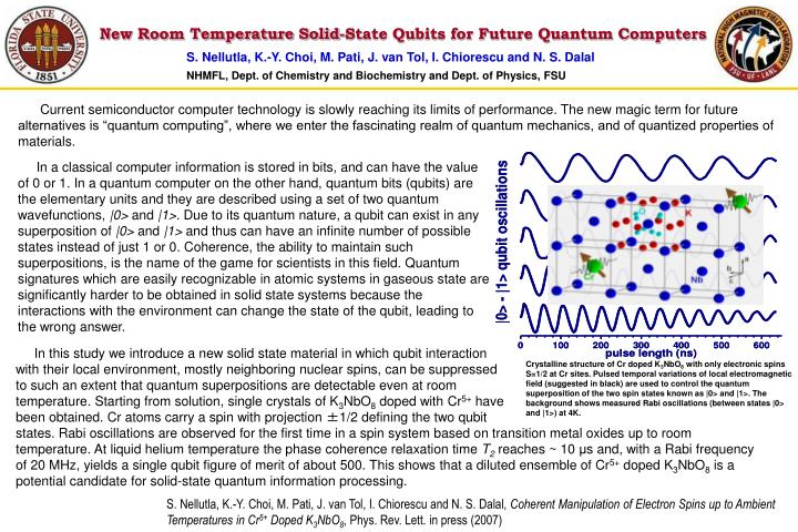 New Room Temperature Solid-State Qubits for Future Quantum Computers