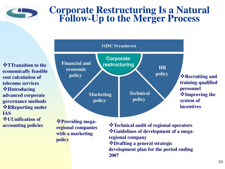Corporate Restructuring Is a Natural Follow-Up to the Merger Process