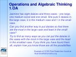operations and algebraic thinking 1 oa