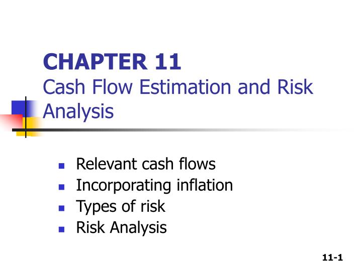 chapter 11 cash flow estimation and risk analysis n.