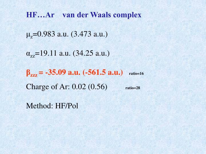 HF…Ar    van der Waals complex