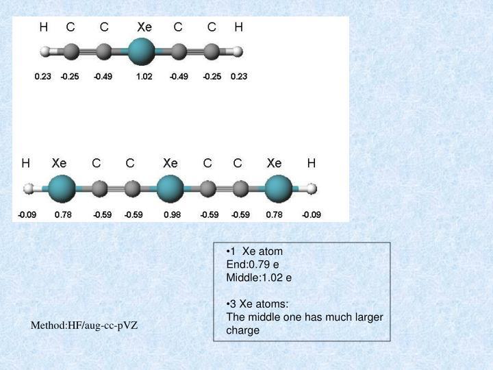1  Xe atom