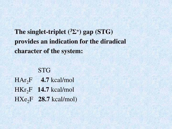 The singlet-triplet (
