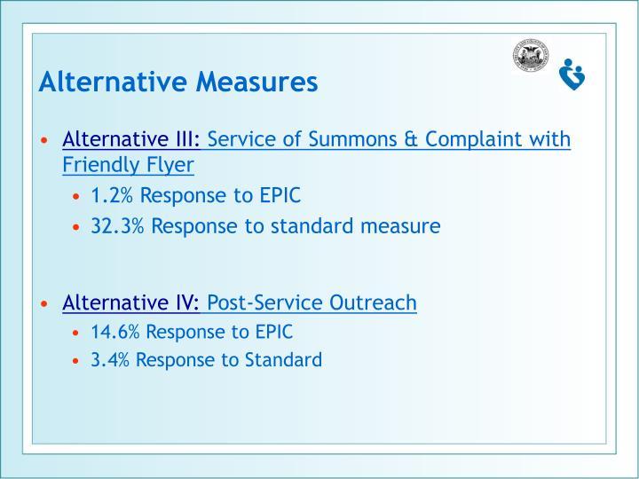 Alternative Measures