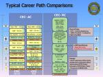 typical career path comparisons