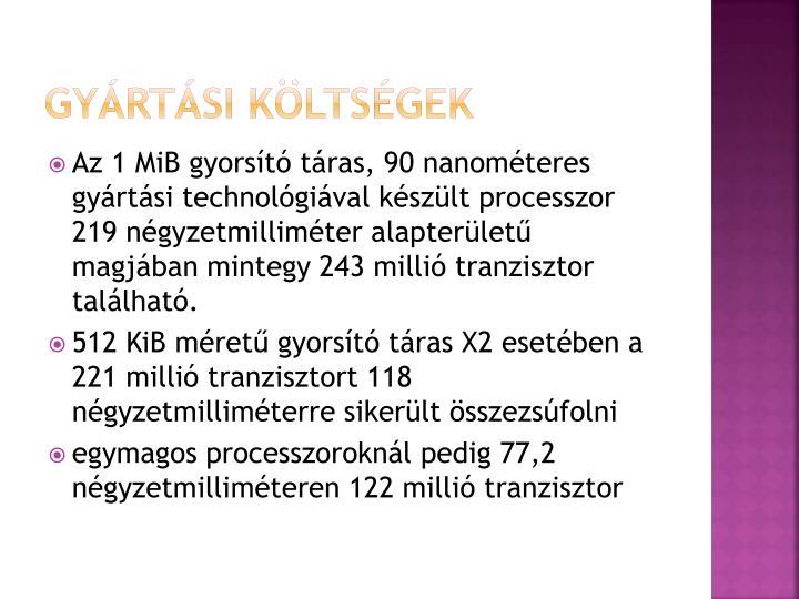 Gyártási költségek