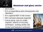 aluminum and glass sector