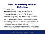 non conforming product definition