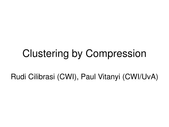 Clustering by compression