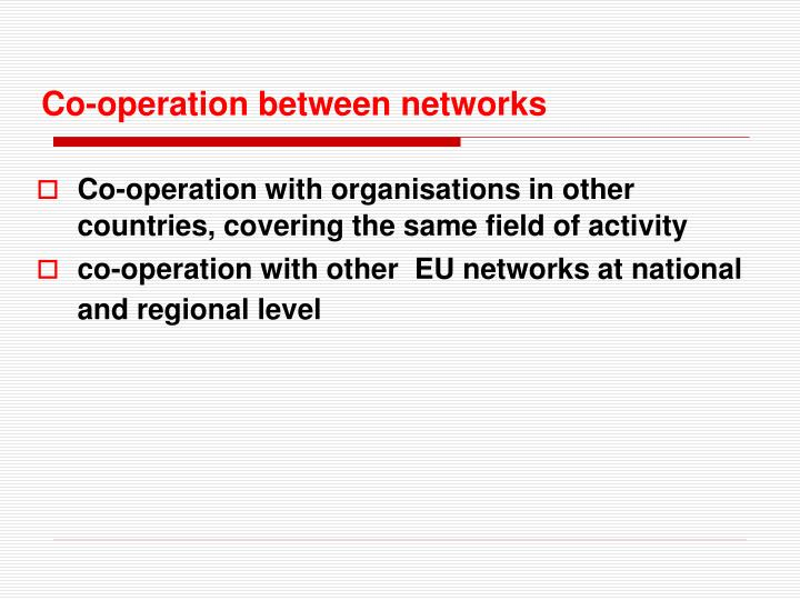 Co-operation between networks