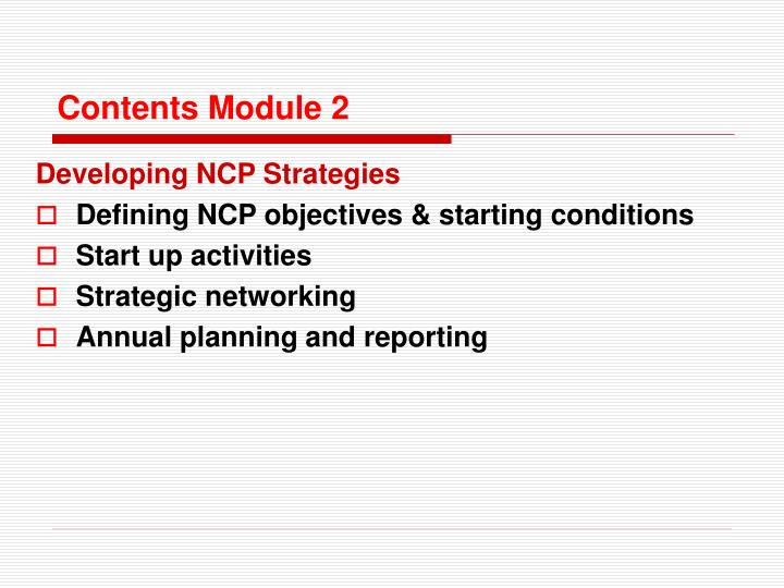 Contents Module 2