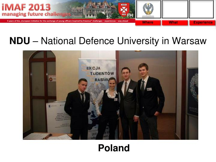Ndu national defence university in warsaw