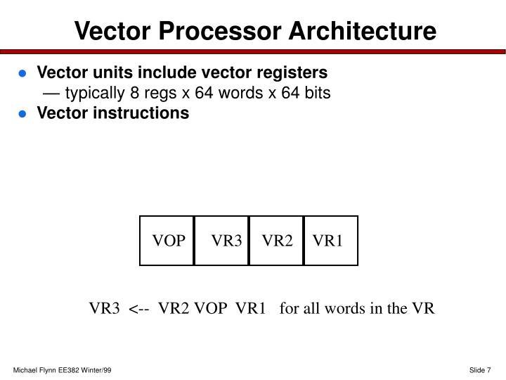 Vector Processor Architecture