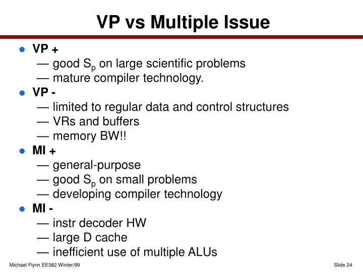 VP vs Multiple Issue