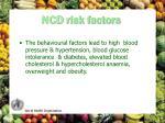 ncd risk factors