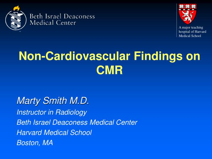 non cardiovascular findings on cmr n.
